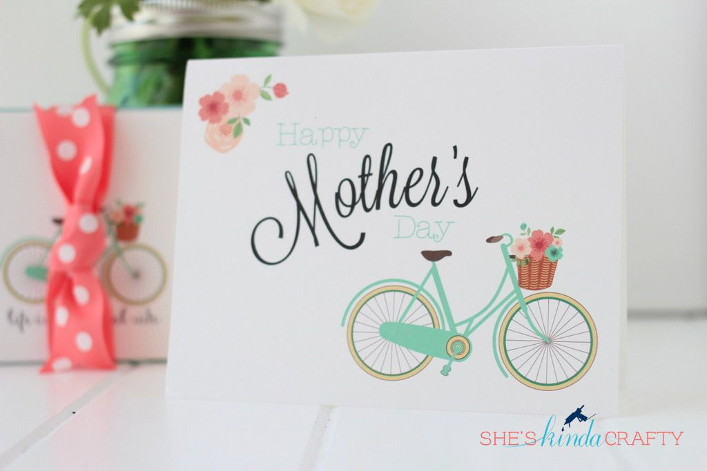 DIY Bicycle Mother's Day Card
