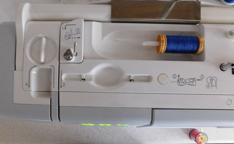 Thread Guides on a New Sewing Machine