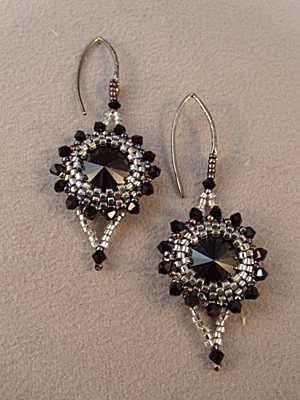 Bezeled Rivoli Earrings
