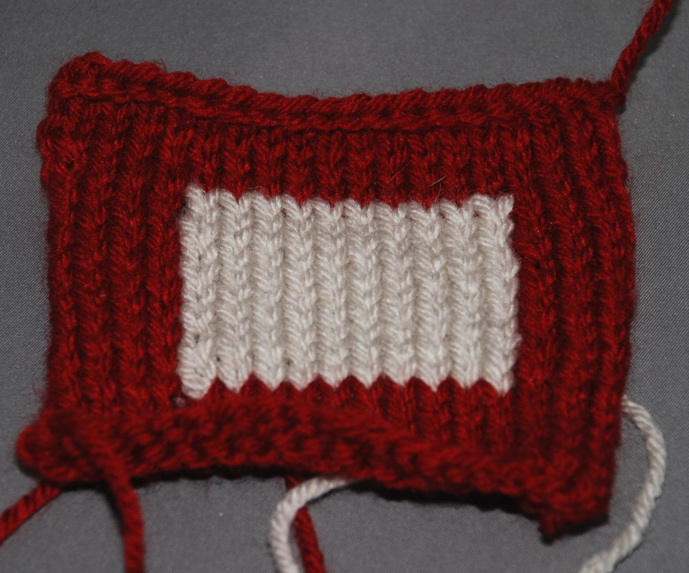 Finished Intarsia Swatch