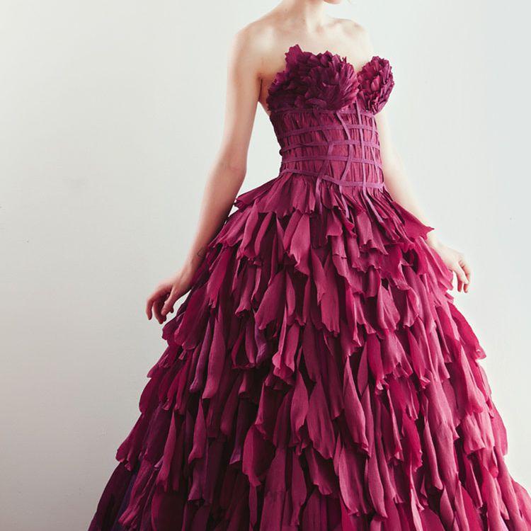 crepe paper dress