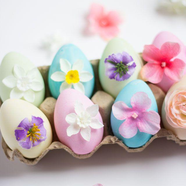DIY Blooming Easter Eggs