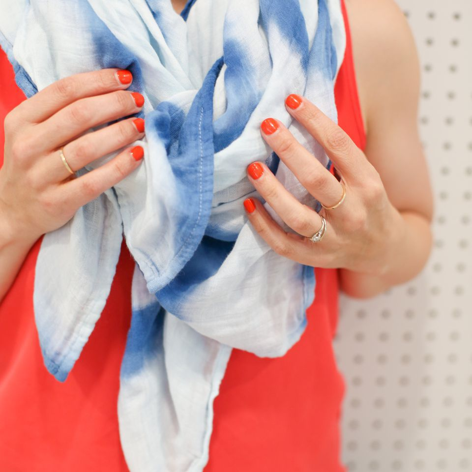DIY shibori scarf