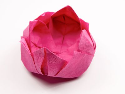 How to make a beautiful origami napkin rose how to make an origami napkin lotus mightylinksfo