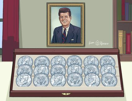 Illustration of Kennedy dollars