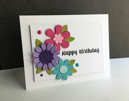 Bright Flowers Birthday Card