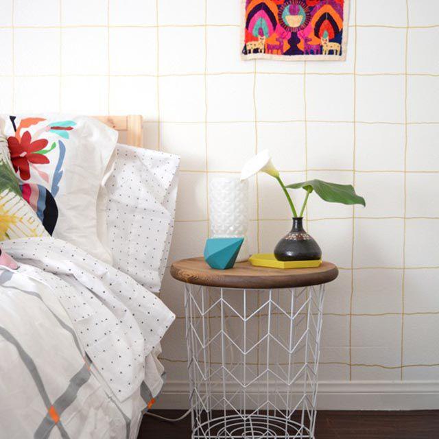 DIY dorm decor side table
