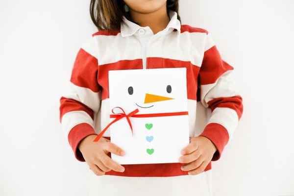 snowman winter paper craft for kids