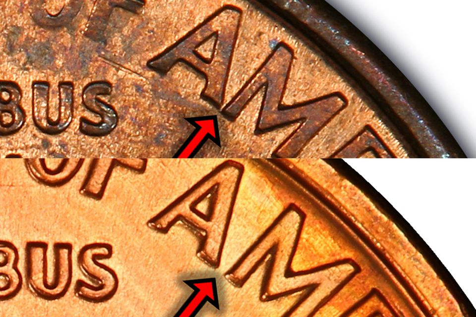 1992 Lincoln Cent Close AM Versus Wide AM Variety