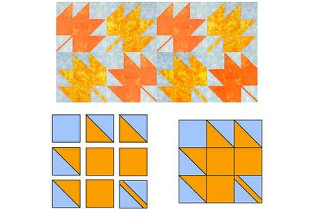 Easy Maple Leaf Quilt Block Pattern Impressive Maple Leaf Pattern