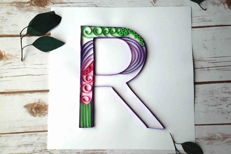 How to make a paper quilled monogram altavistaventures Choice Image