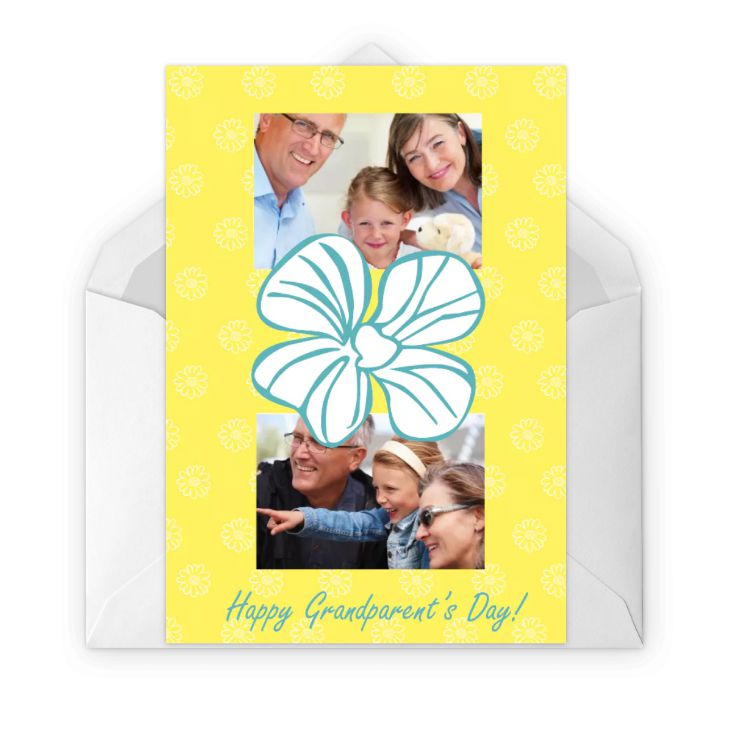 A yellow floral grandparent's day card