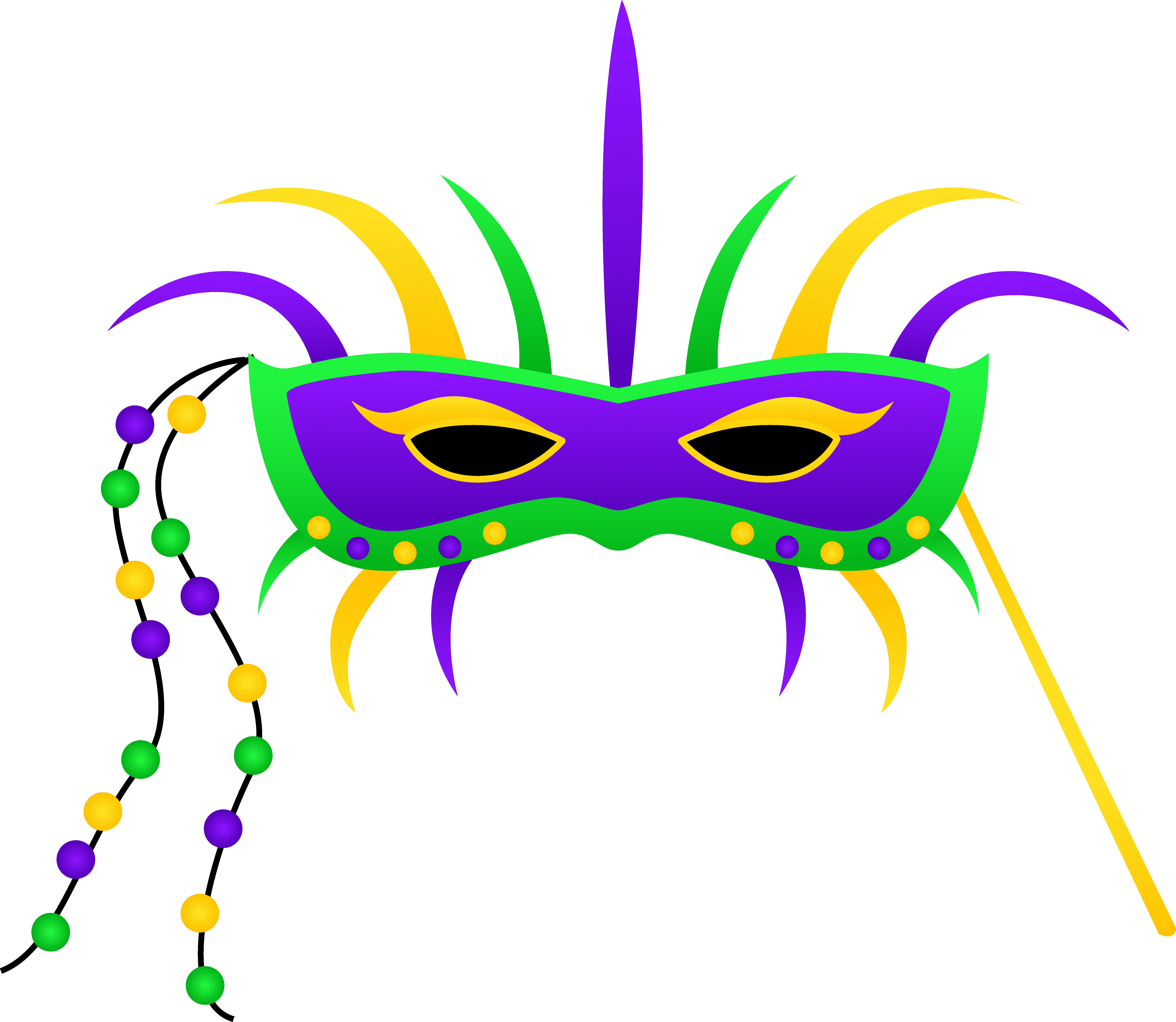 A colorful Mardi Gras mask