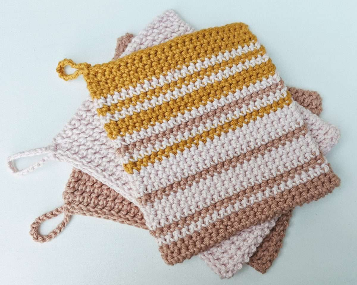Crochet Thermal Stripes Pot Holder Pattern