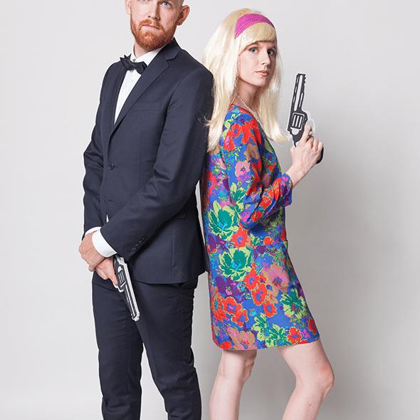 DIY James Bond and Bond Girl couples costume