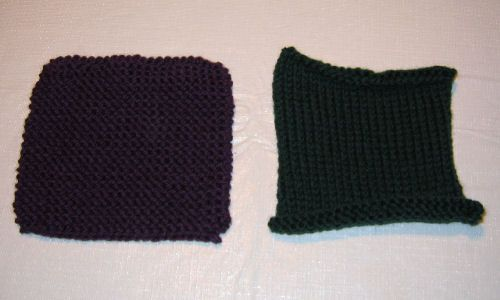 Unfelted swatches.