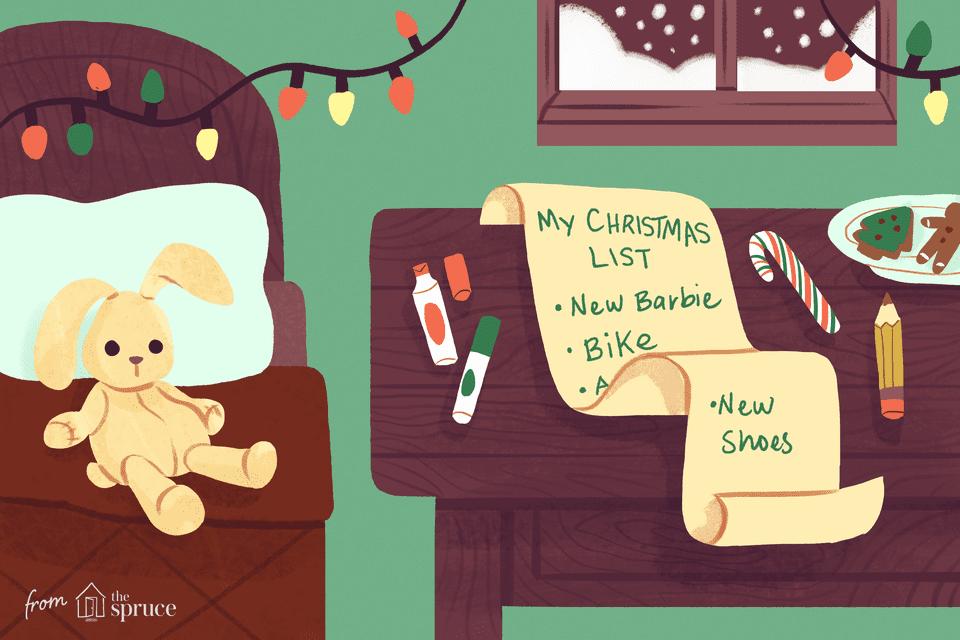 christmas wish list illustration