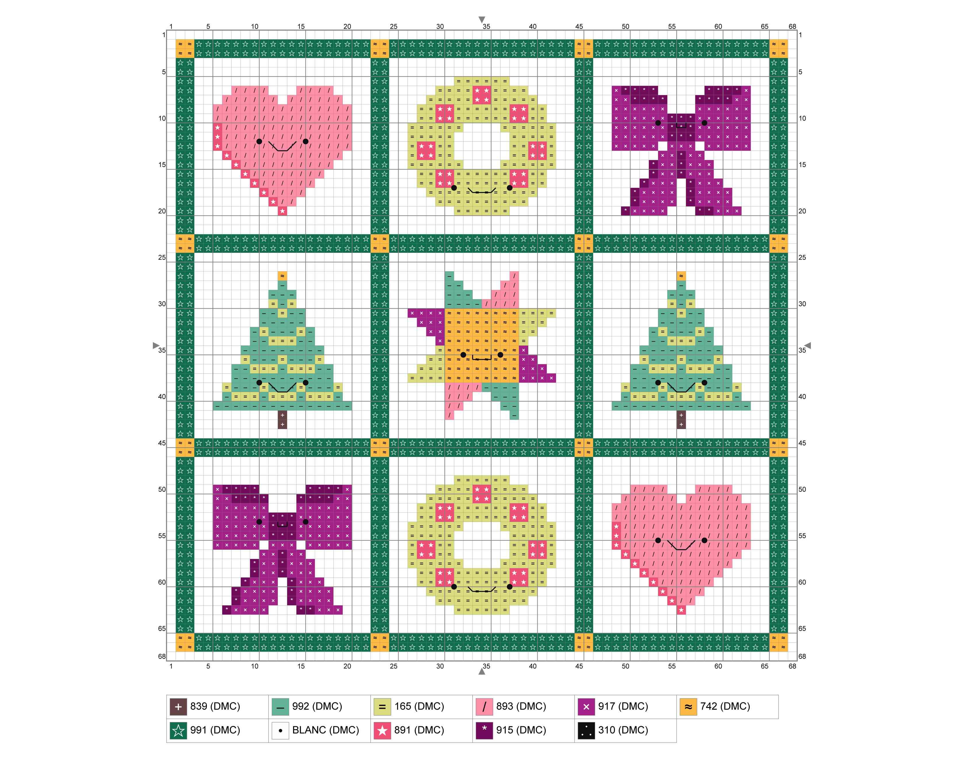 Christmas Quilt Mini Sampler Cross Stitch Chart