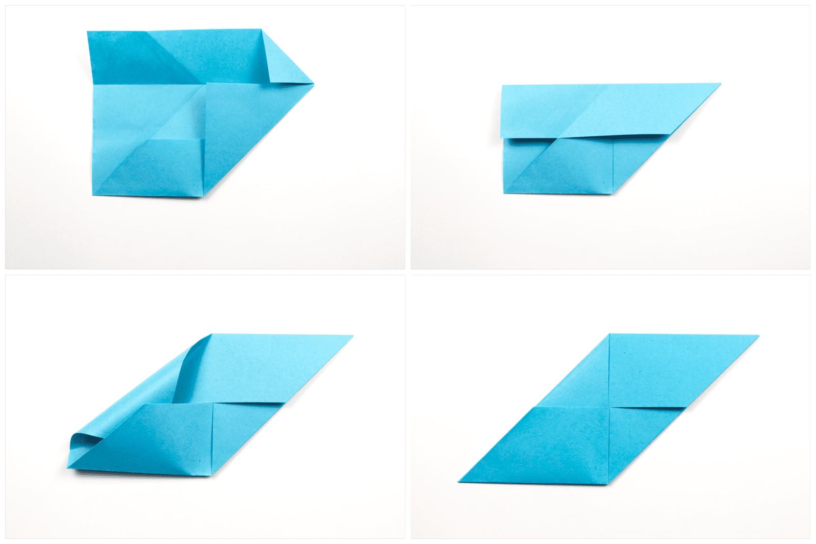 Origami Sonobe wall display step 3