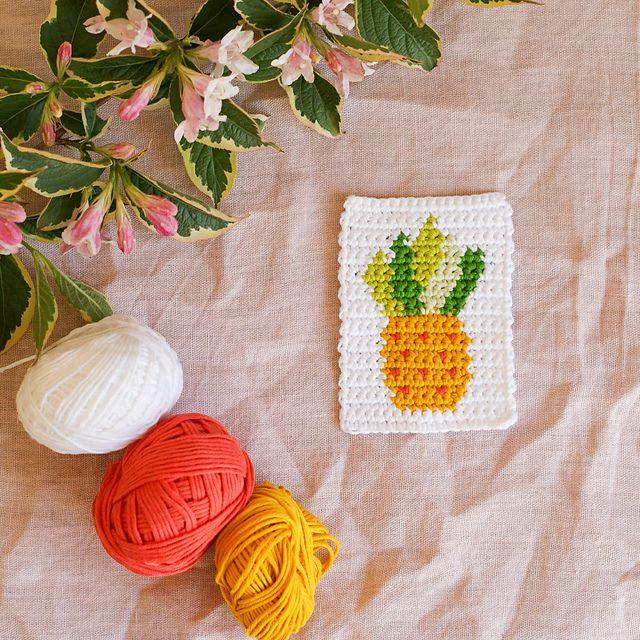 Crochet Pineapple Motif