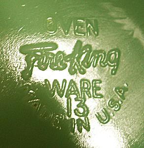 Ca. 1950s Fire King Glass Mark