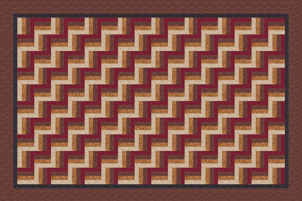 rail fence quilting pattern