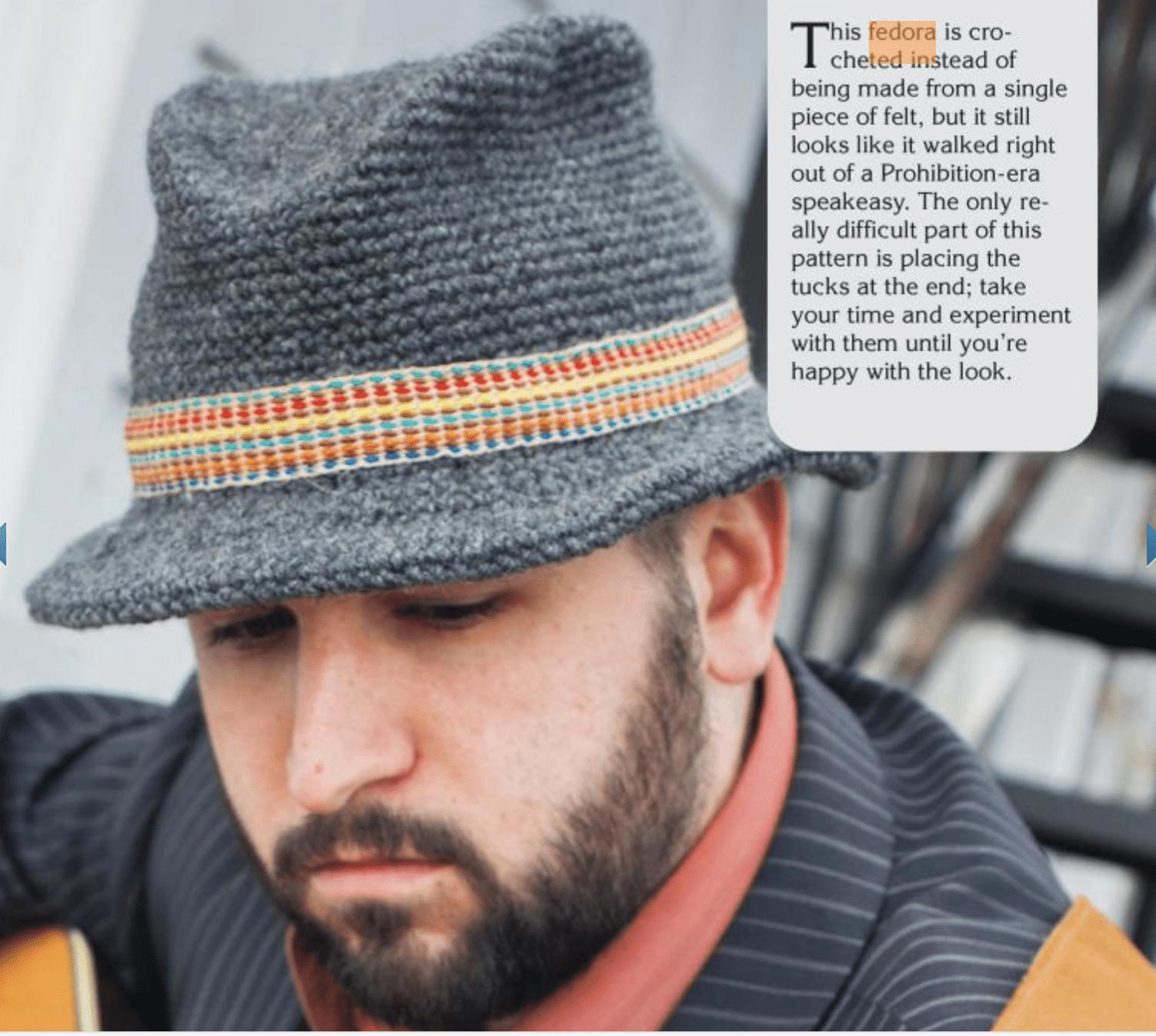 3 Vintage-Inspired Men s Crochet Hat Patterns d0531a0e2e3