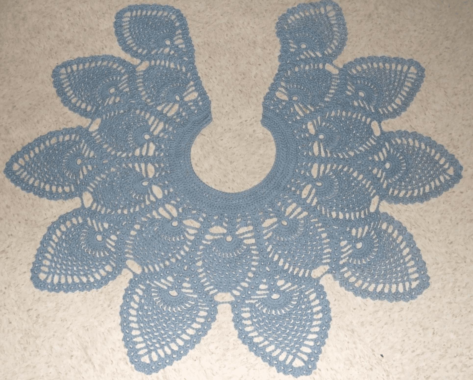 Pineapple Doily Shawl Free Crochet Pattern