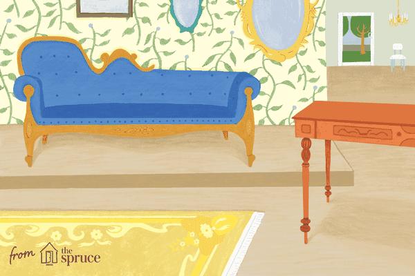 Illustration of antique furniture