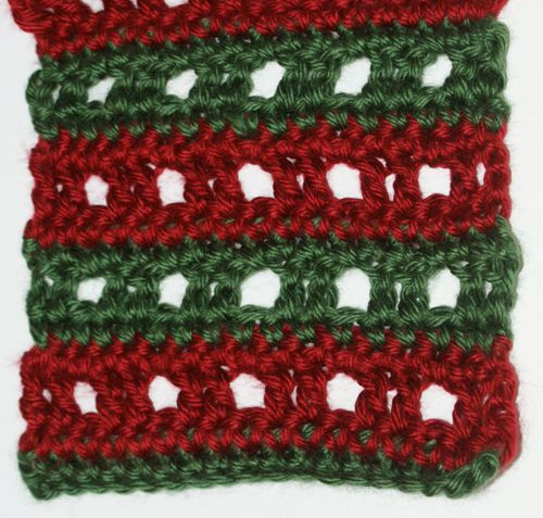 Two Color Grid Lace Scarf Crochet Pattern
