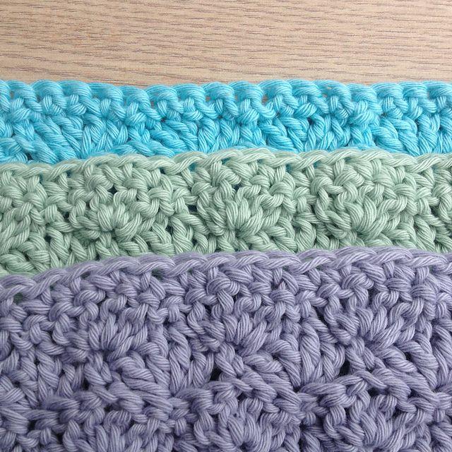 Crochet Shell Stitch Dishcloth Pattern