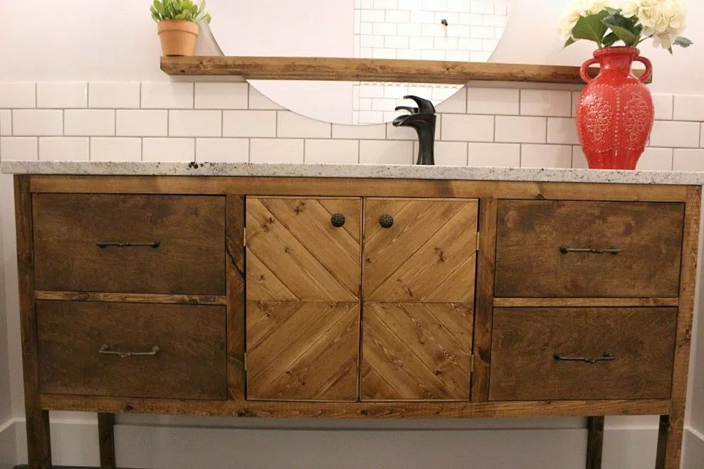 Fabulous 13 Diy Bathroom Vanity Plans You Can Build Today Interior Design Ideas Gentotryabchikinfo