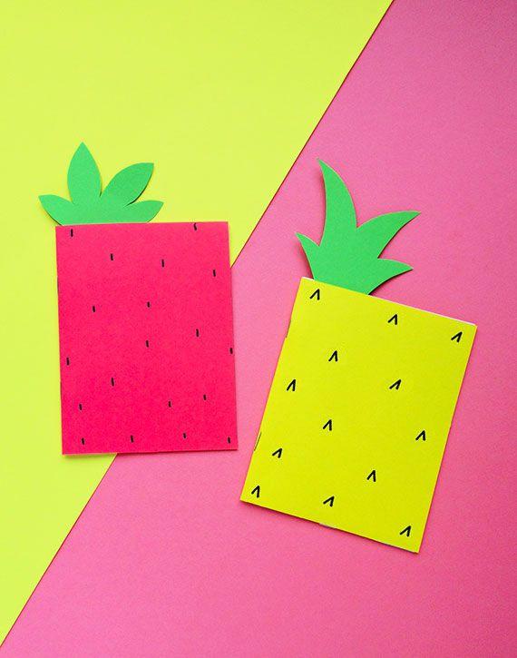 DIY Pineapple Notebook