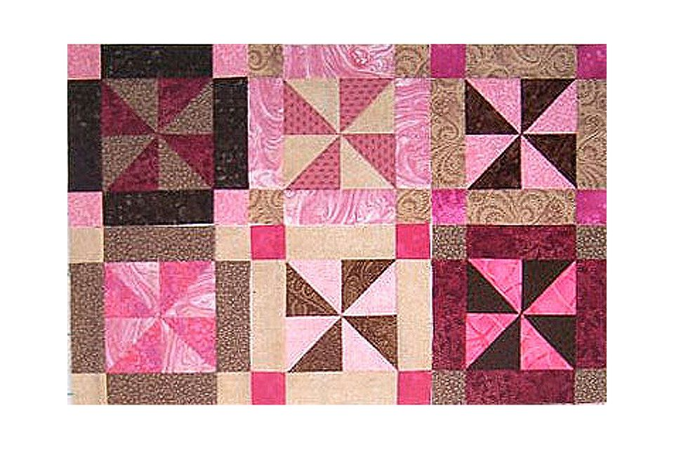 Easy Framed Pinwheel Quilt Block Pattern