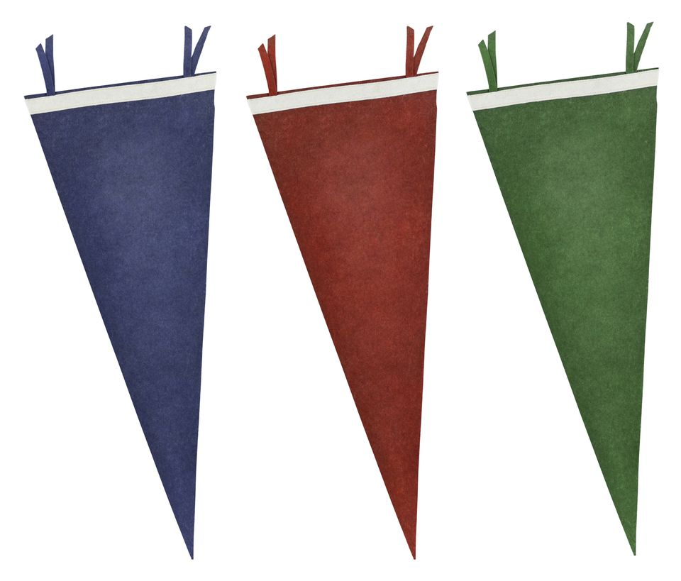 Red, Green, Blue pennants