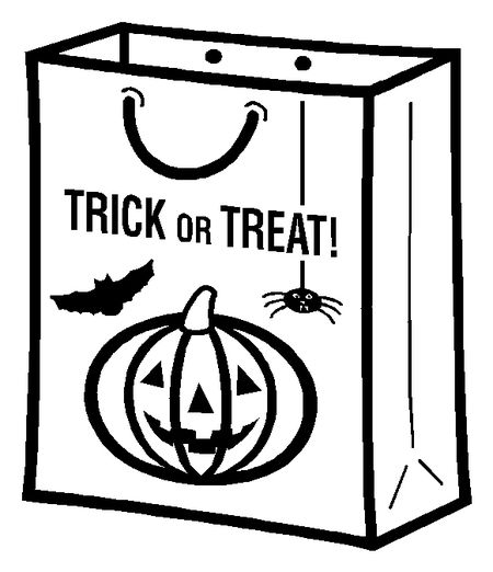 A Trick Or Treat Candy Bag