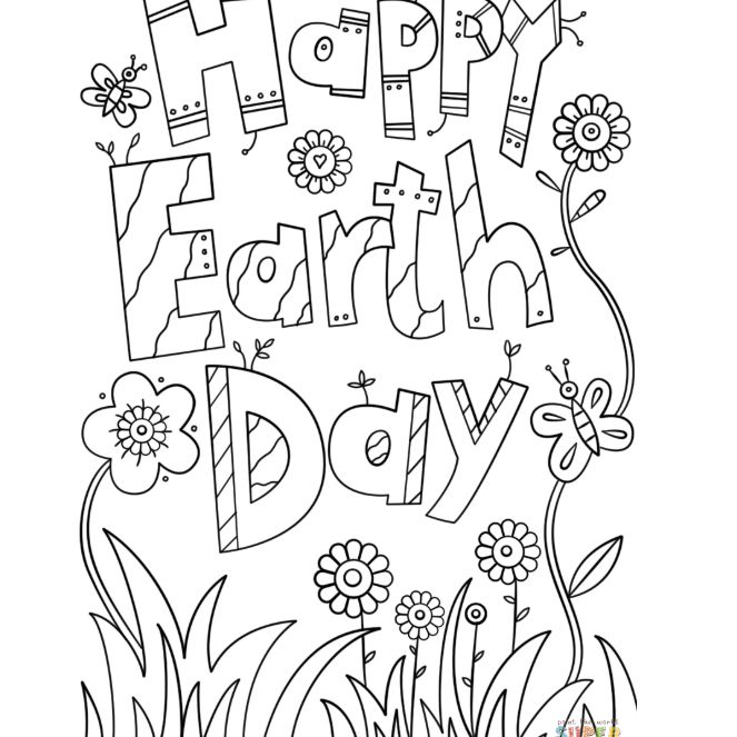 8 Places For Free, Printable Earth Day Coloring Pages