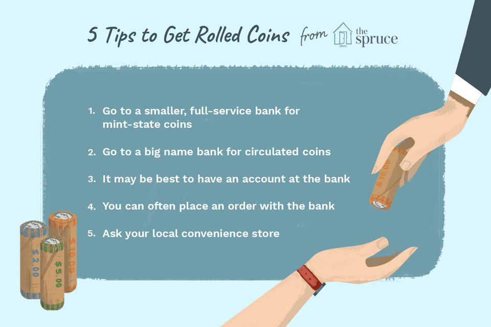 illustration of tips for getting rolled coins