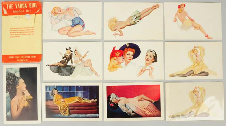 The Varga Girl - Esky Cards Sets 1 and 3 illustrated by Alberto Vargas