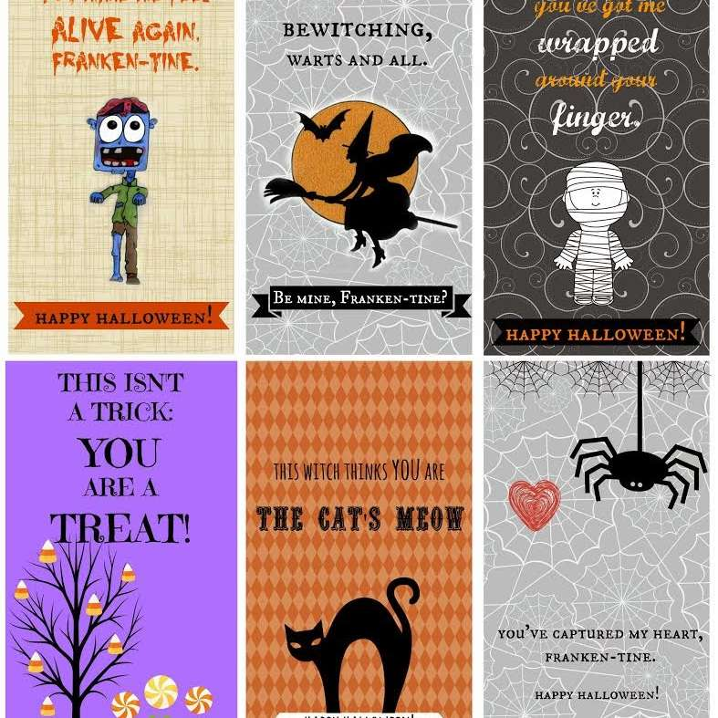 A set of 6 Halloween cards