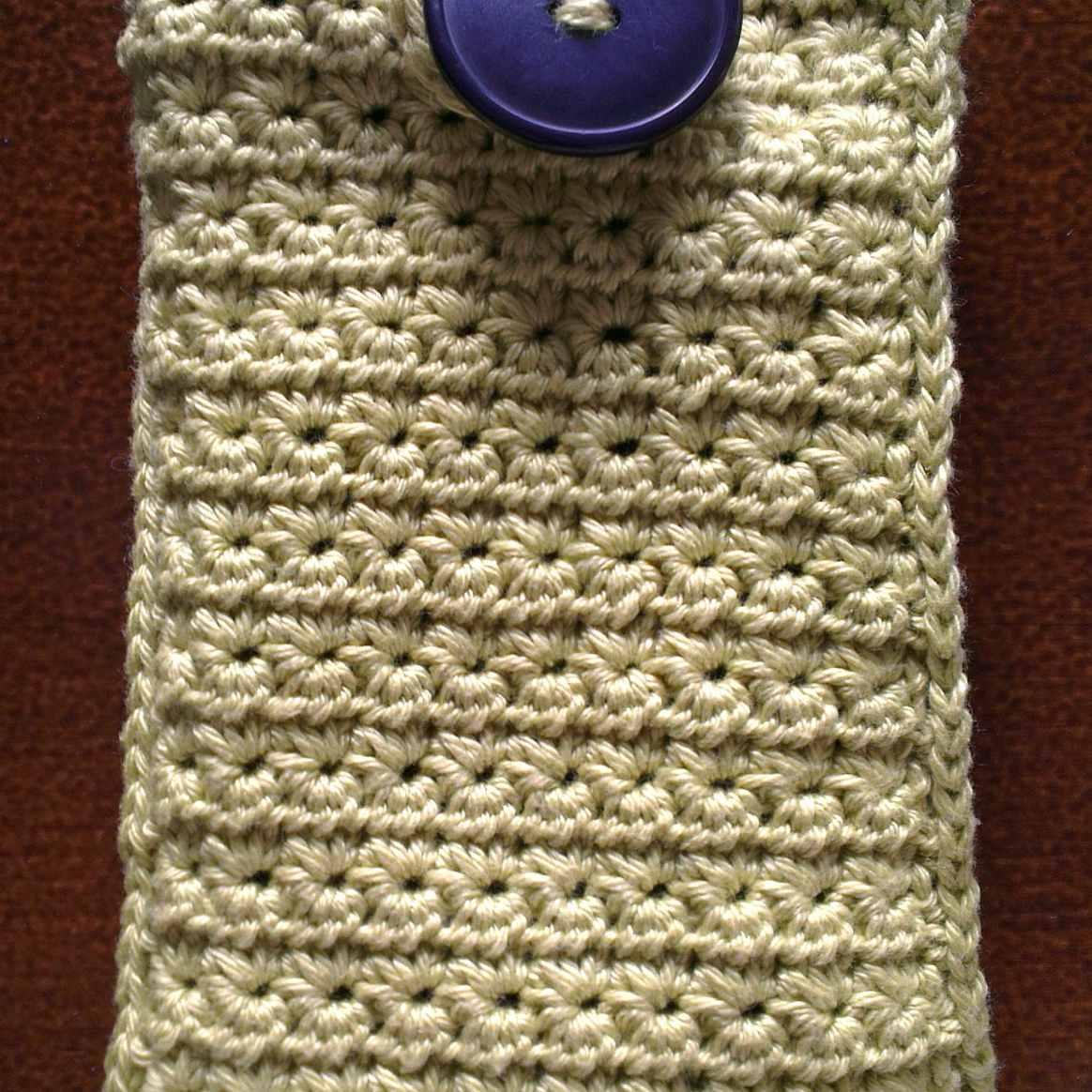 Star Stitch Cell Phone Case Free Crochet Pattern