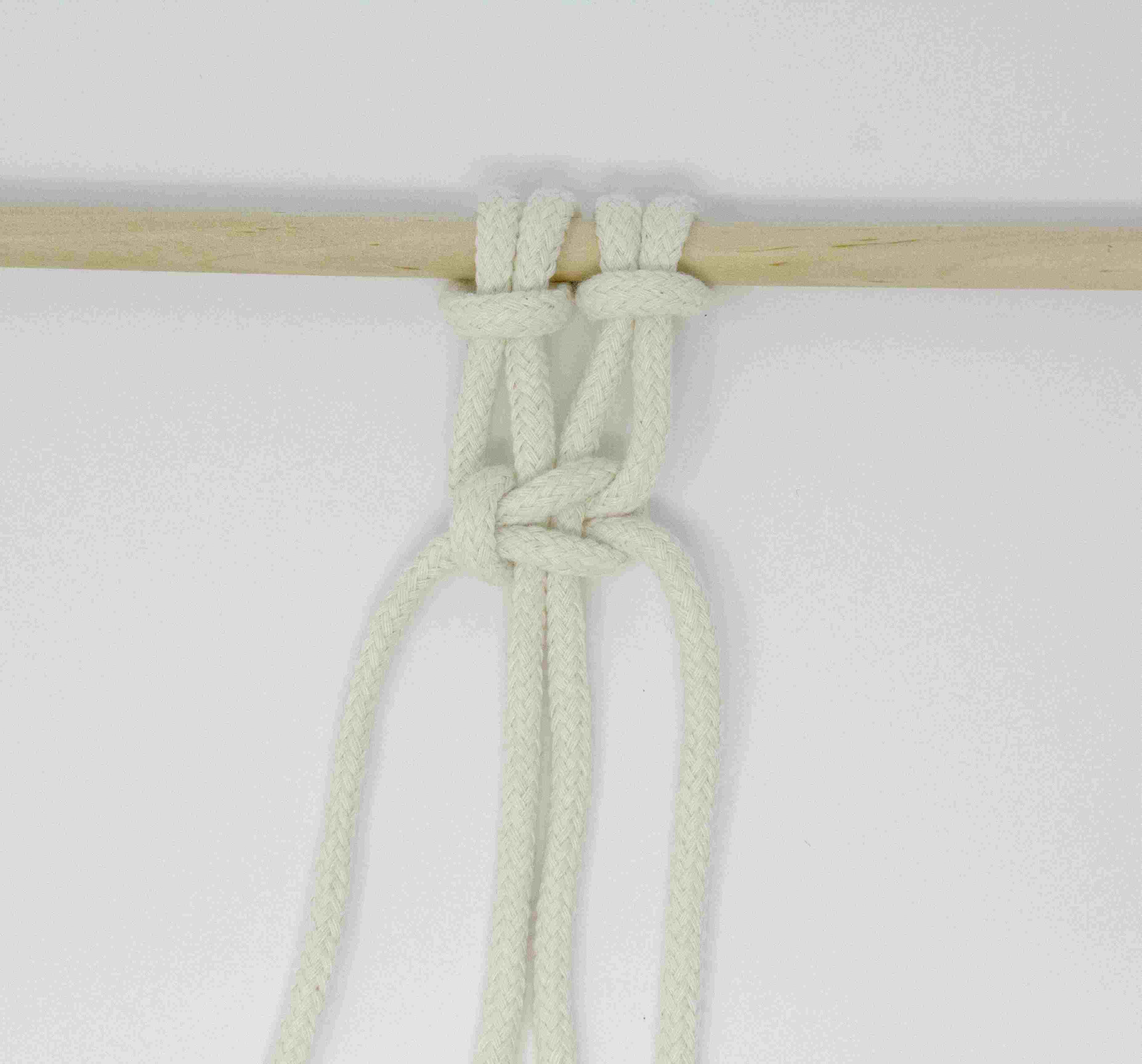 A left facing square knot