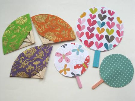 A Paper Fan Summer Craft For Kids