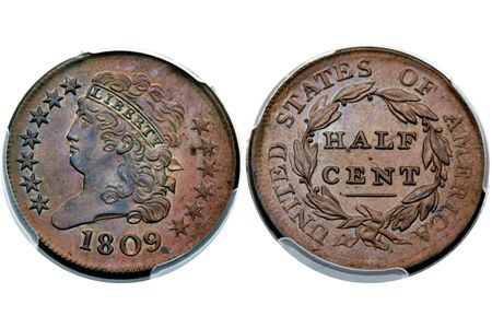 Classic Head Half Cents Coin Values and Prices (1809-1836)