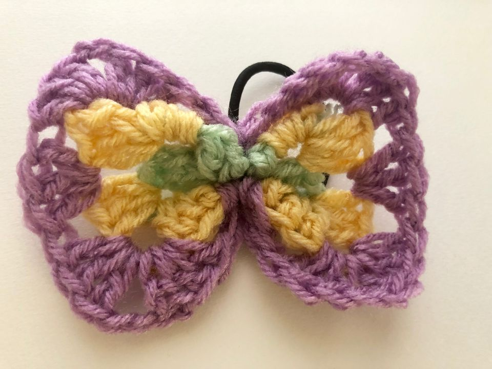 Crochet Hair Bow Tie