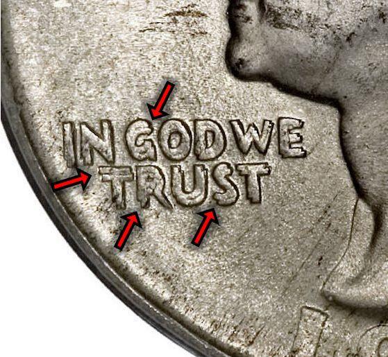 1934 Washington Silver Quarter Doubled Die Obverse (DDO) Variety