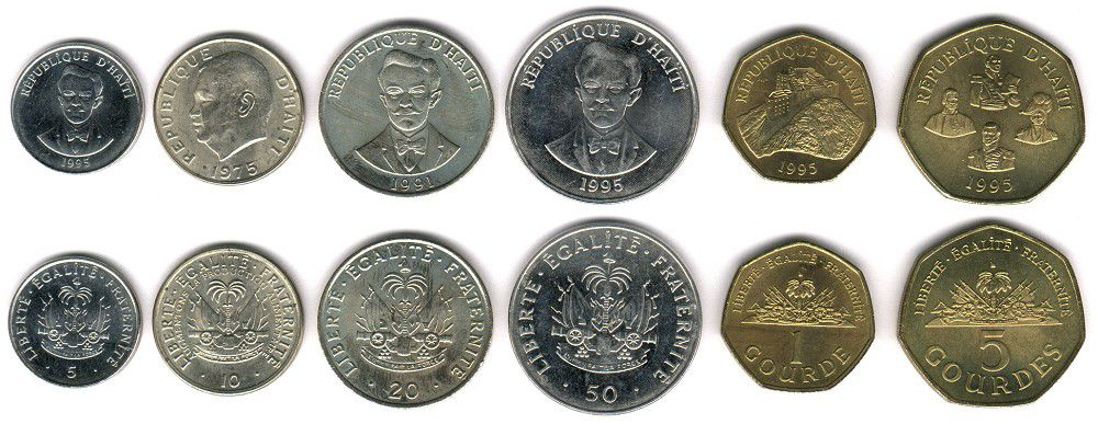 These coins are currently circulating in Haiti as money.