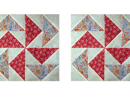 Flying In Circles A Flying Geese Quilt Block Pattern