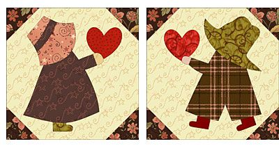Sunbonnet sue and overalls sam quilt pattern