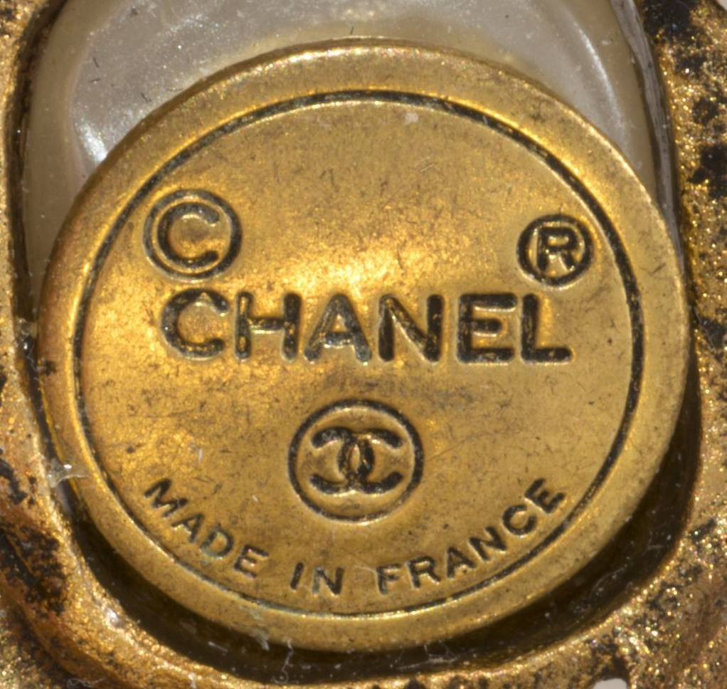 Chanel Round 1970s to Early 1980s Signature Cartouche